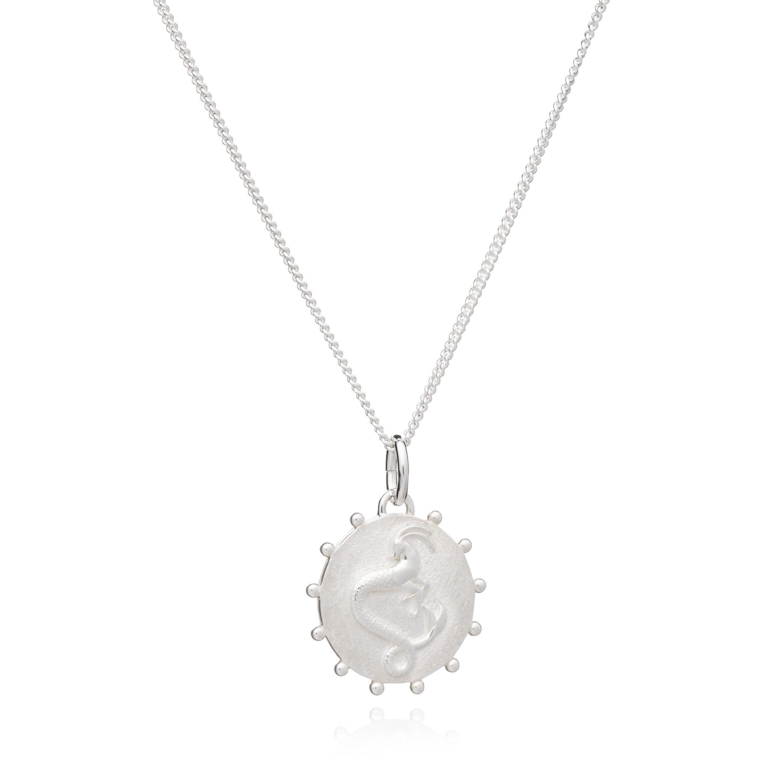 Zodiac Art Coin Short Necklace - SILVER