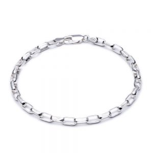 Boyfriend Curb Chain Bracelet - SILVER