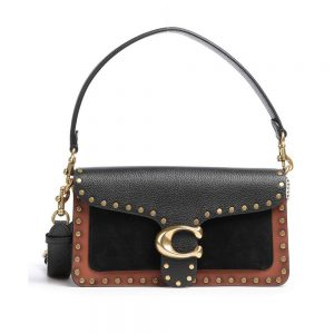 Tabby Shoulder Bag 26 with Rivets - Black