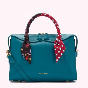 Medium Peekaboo Lip Dylan Bag With Scarf - Emerald