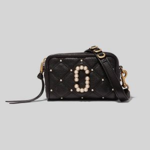 The Quilted Softshot with Pearls 17 - BLACK