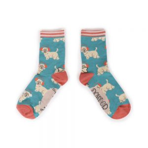 WESTIE EARMUFFS ANKLE SOCKS - MULTI