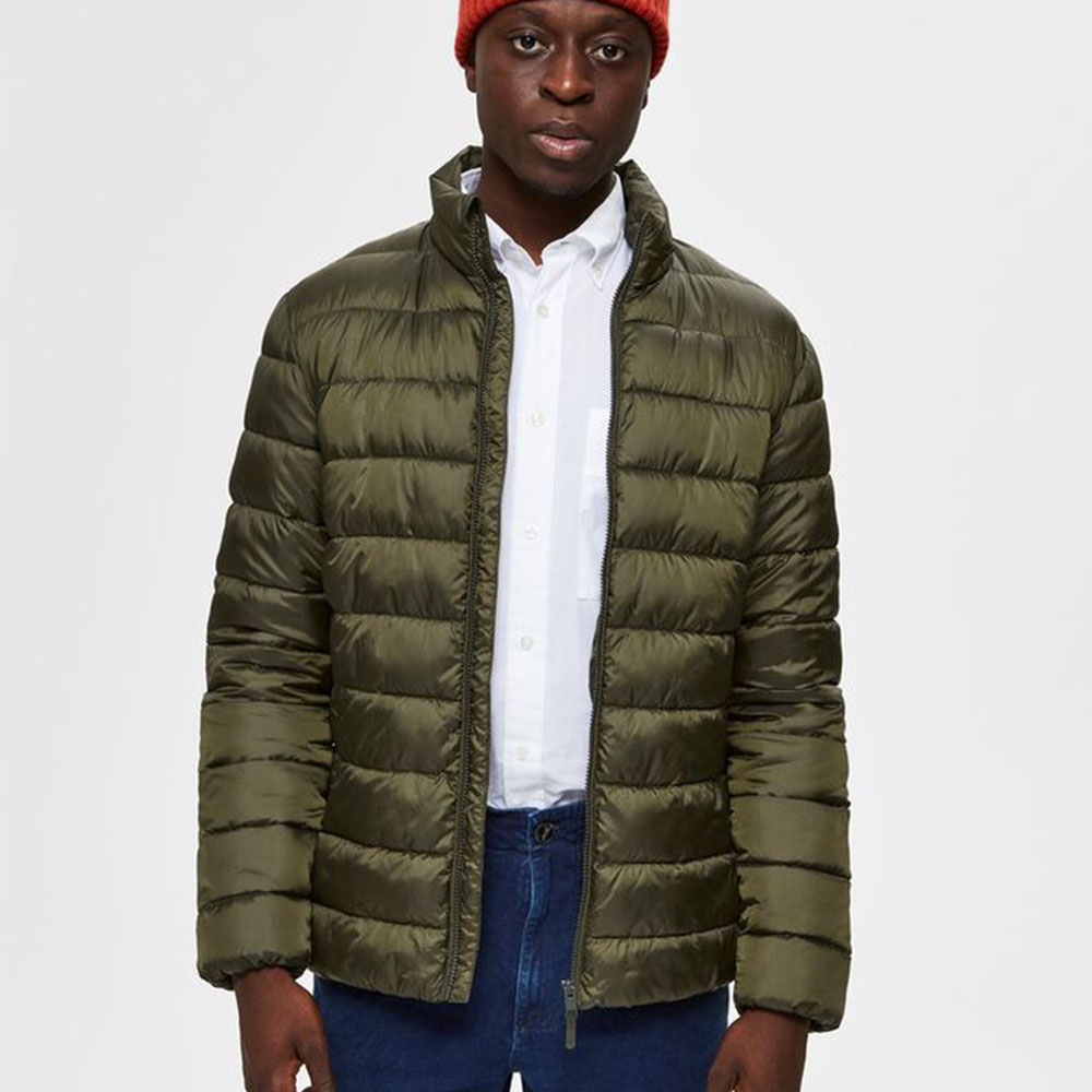 QUILTED PLASTIC CHANGE PUFF JACKET - Green