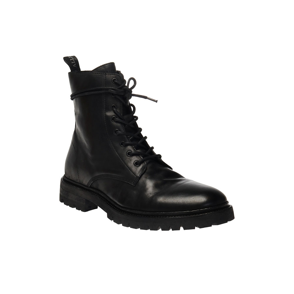 TOBIAS LEATHER BOOTS - BLACK