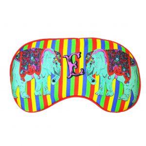 "Silk Eye Mask / ""E for Elephant"""