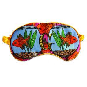"Silk Eye Mask / ""G for Goldfish"""