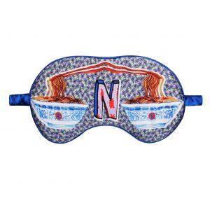 """Silk Eye Mask / """"N for Noodles"""""""