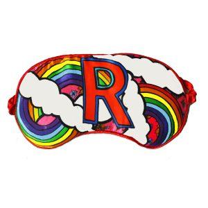 """Silk Eye Mask / """"R for Rainbow"""""""