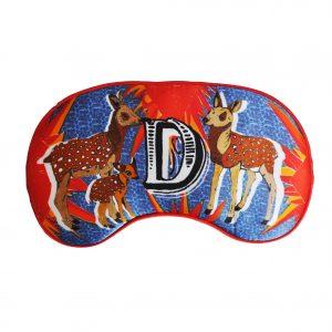 """Silk Eye Mask / """"D for Deer"""""""