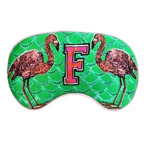 """Silk Eye Mask / """"F for Flamingo"""""""