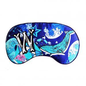 """Silk Eye Mask / """"W for Whale"""""""