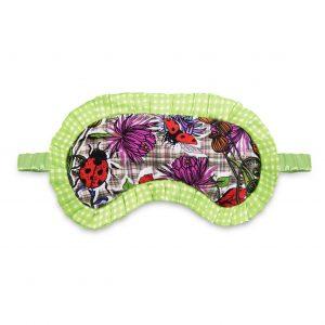 Silk Eye Mask / ''Botanical Tartan''