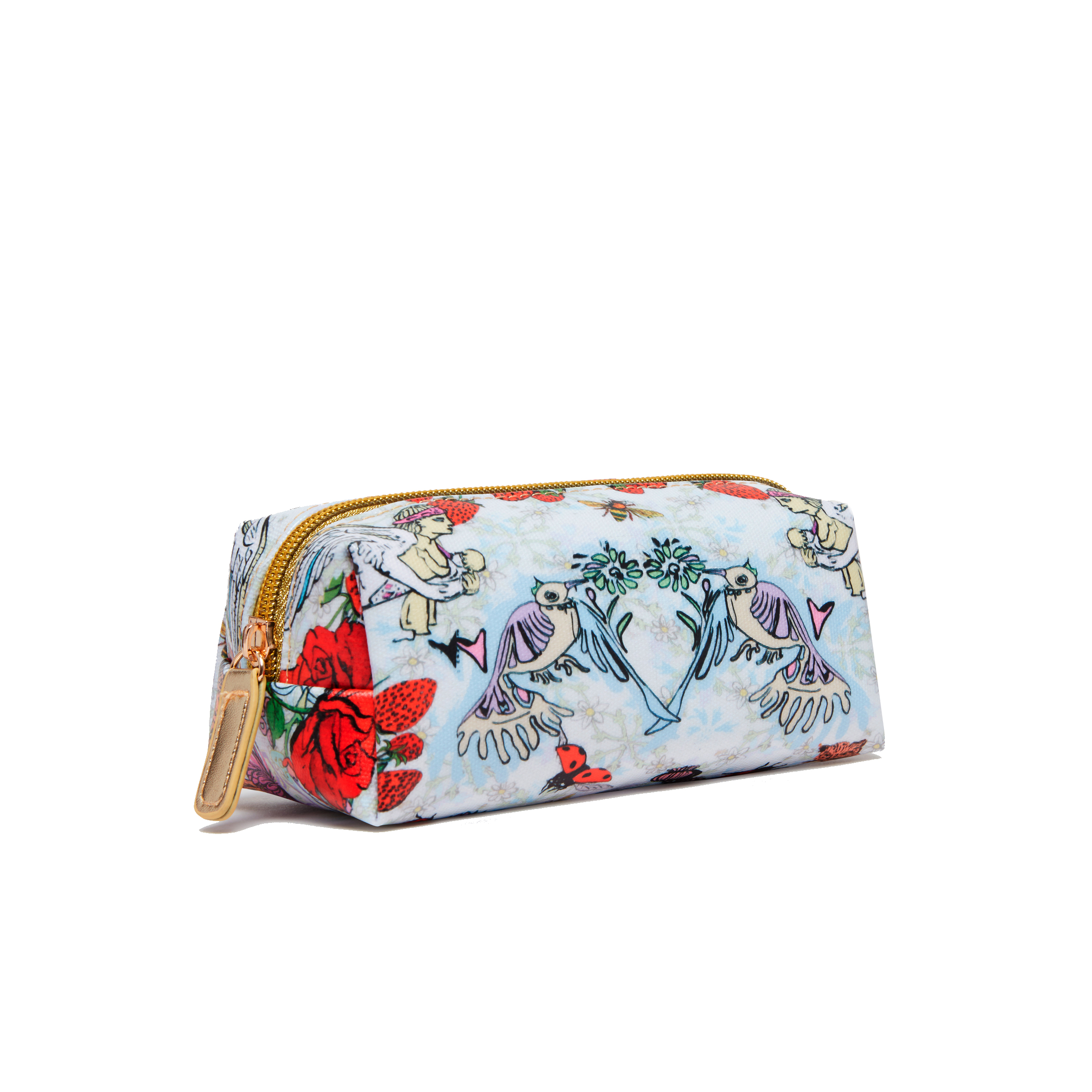Mini Make Up Bag / ''Strawberry Garden''
