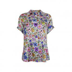 Short Sleeve Pyjama Top / ''Paint By Flora''