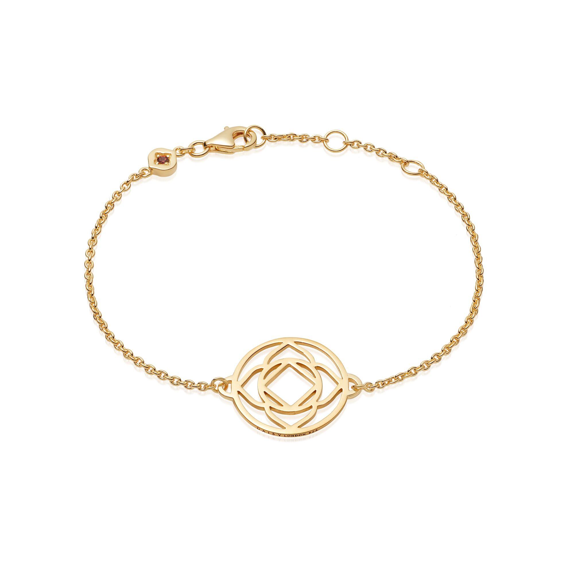 Base Chain Chakra Bracelet  Gold