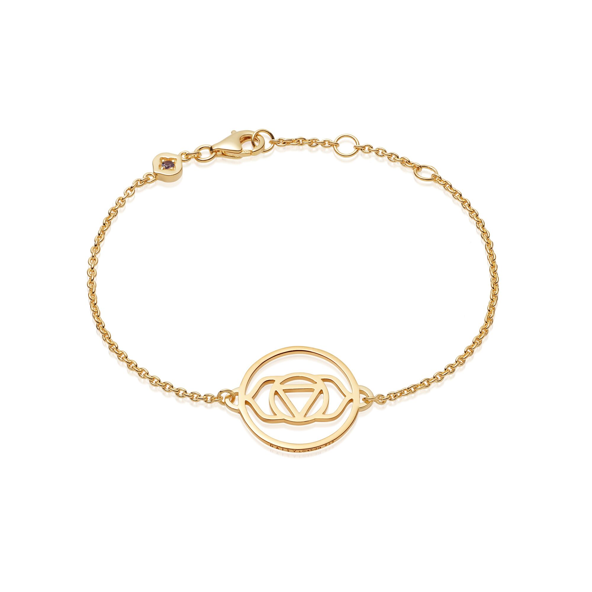 Brow Chakra Chain Bracelet  Gold