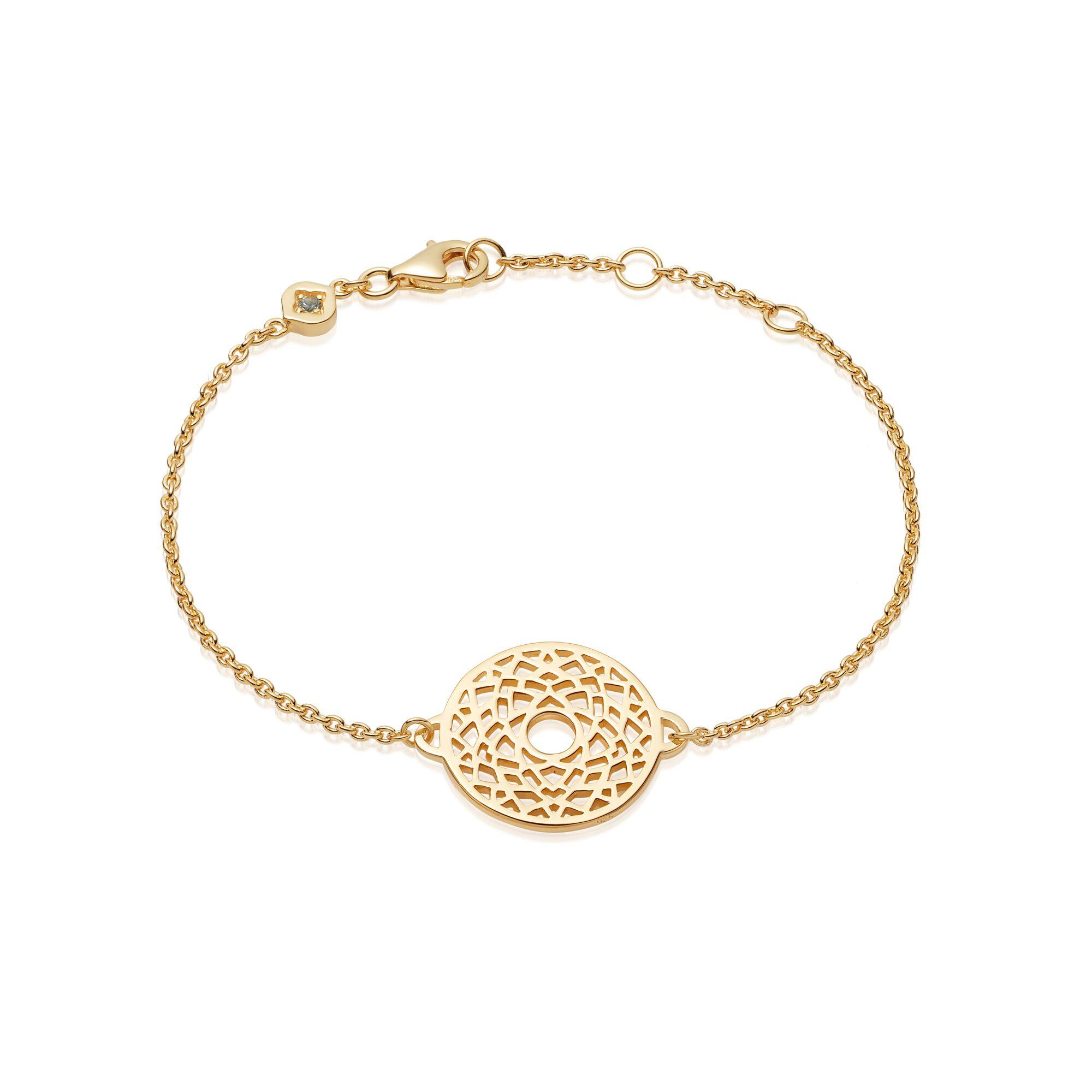 Crown Chakra Chain Bracelet  Gold