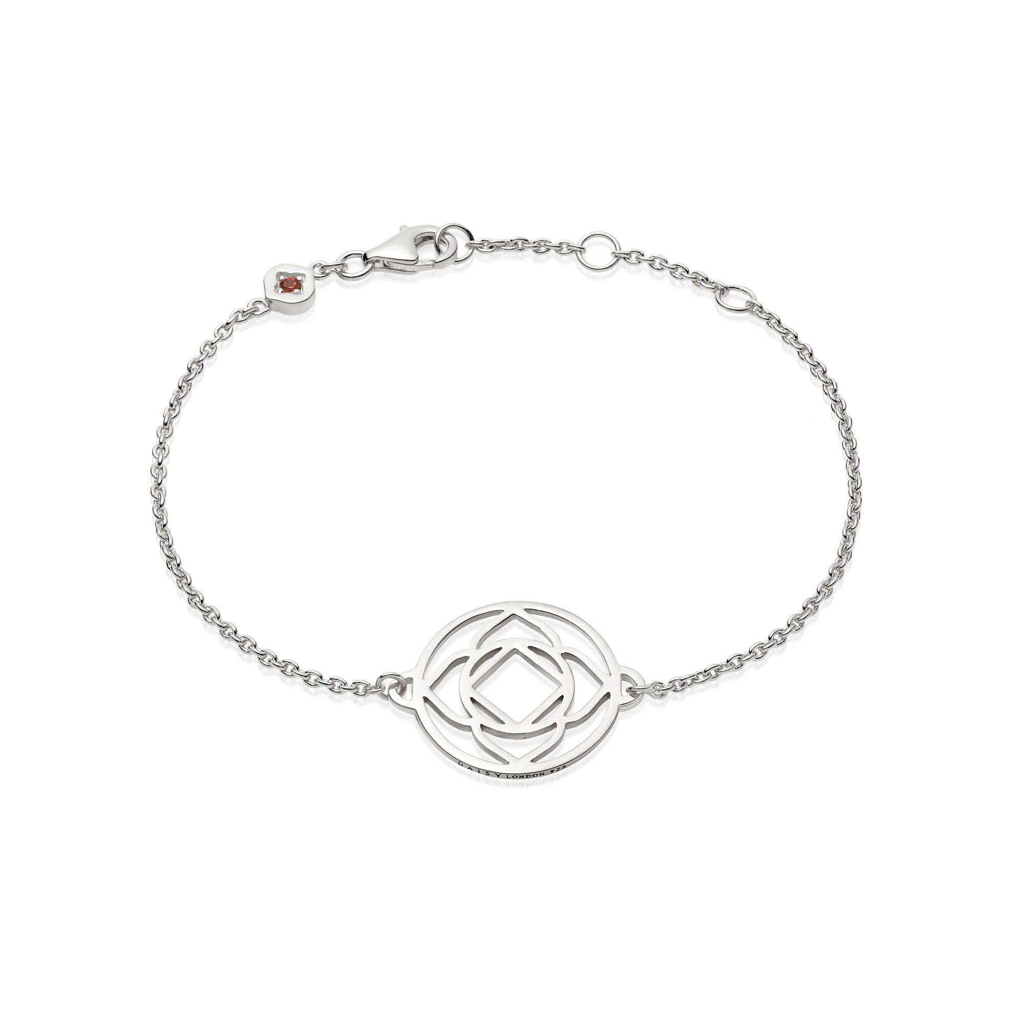 Base Chakra Chain Bracelet  Silver