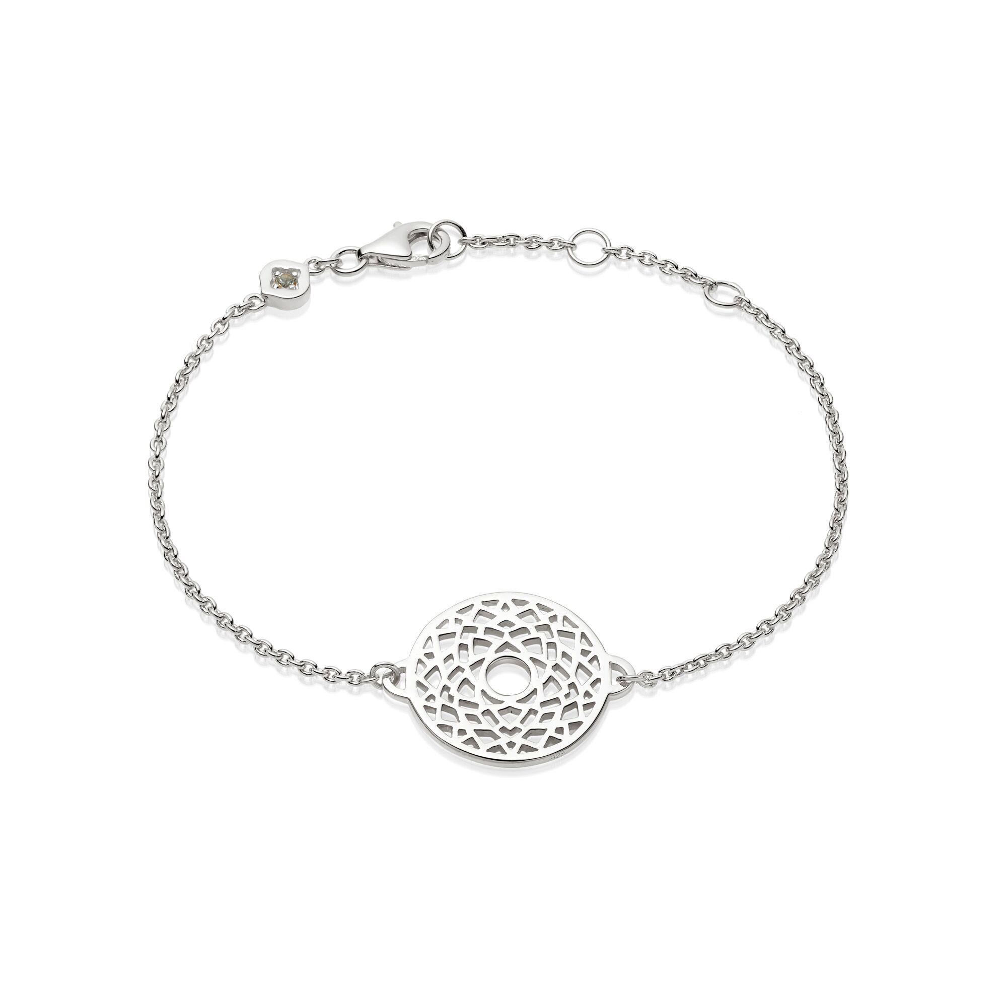 Crown Chakra Chain Bracelet  Silver