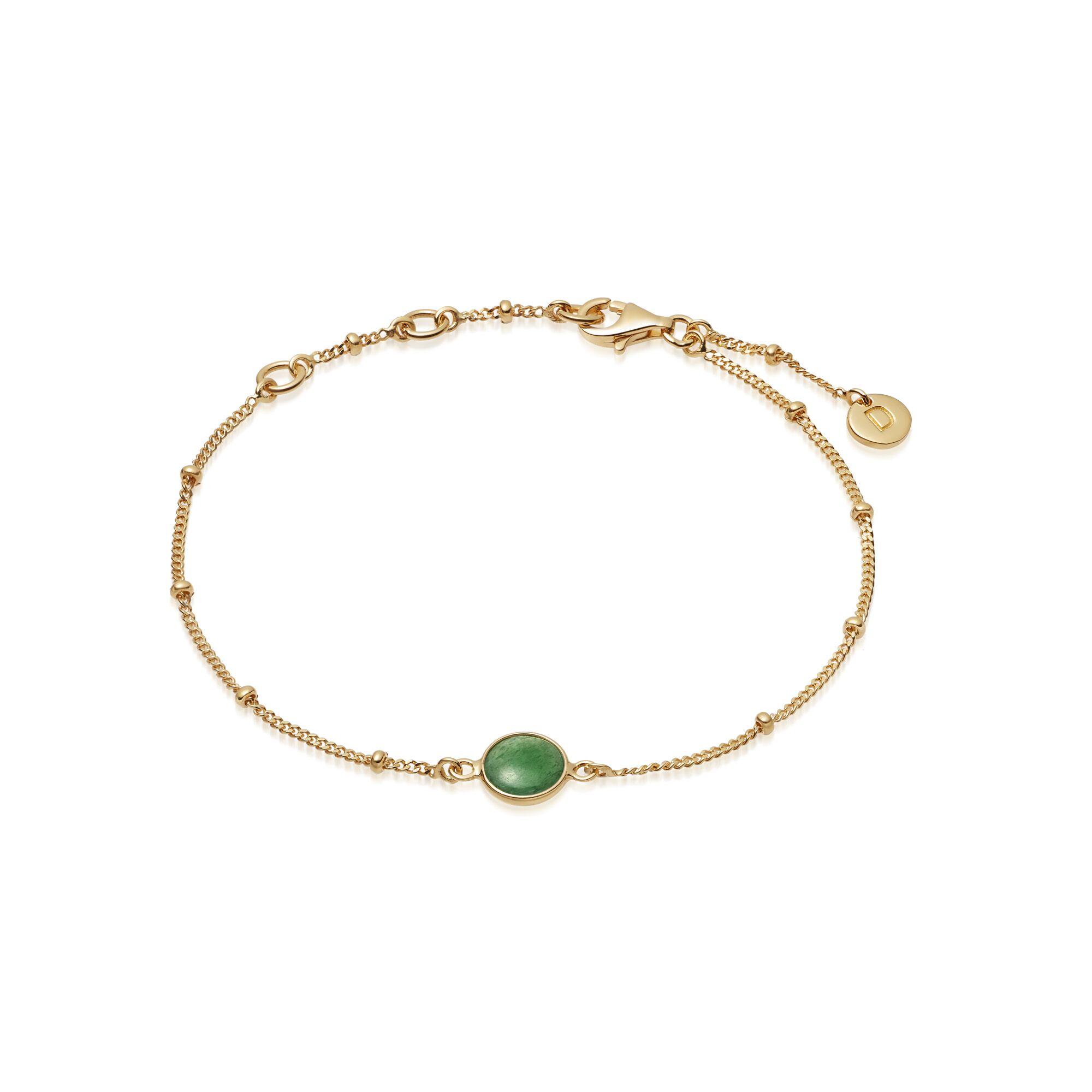 GREEN AVENTURINE HEALING BRACELET GOLD