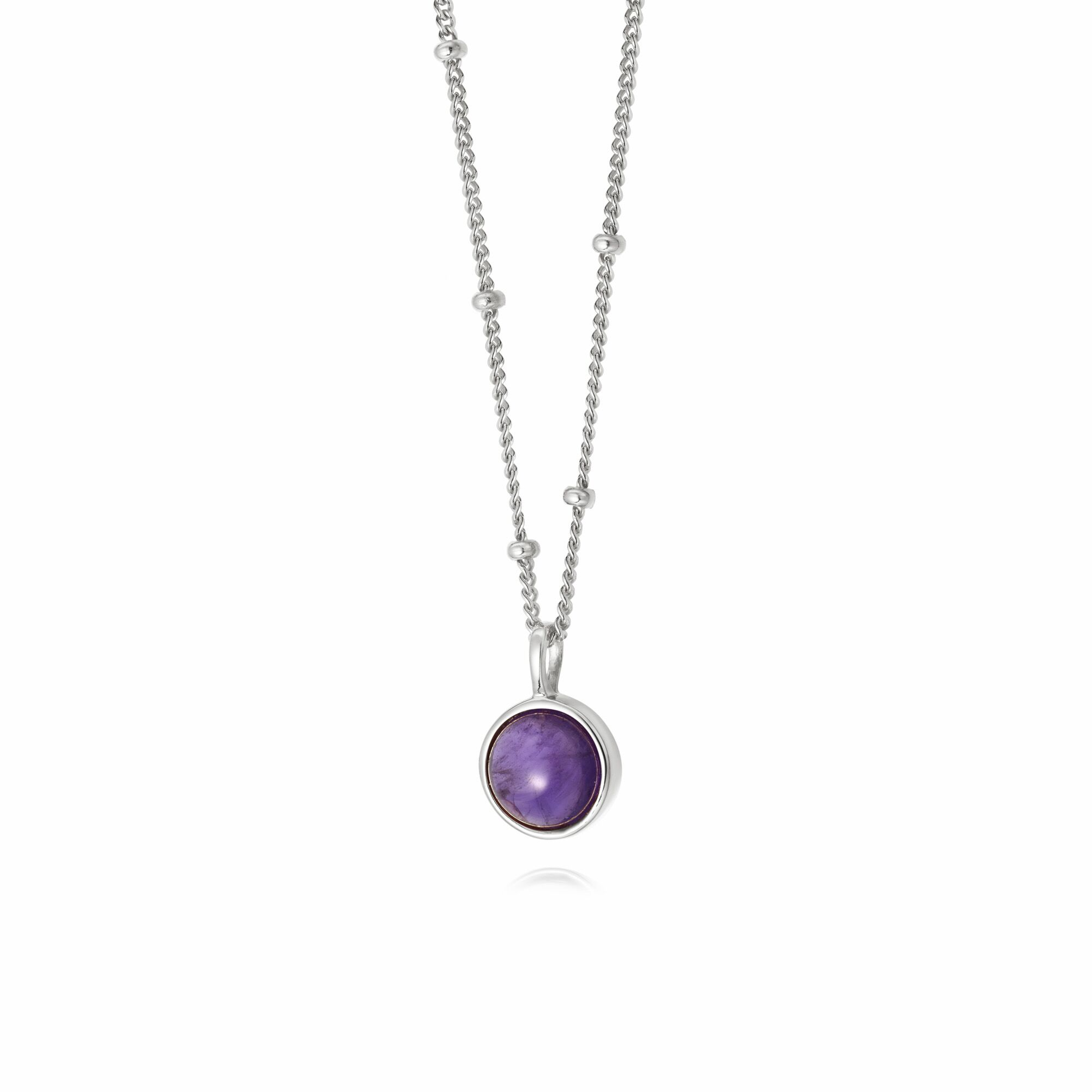 AMETHYST HEALING NECKLACE SILVER