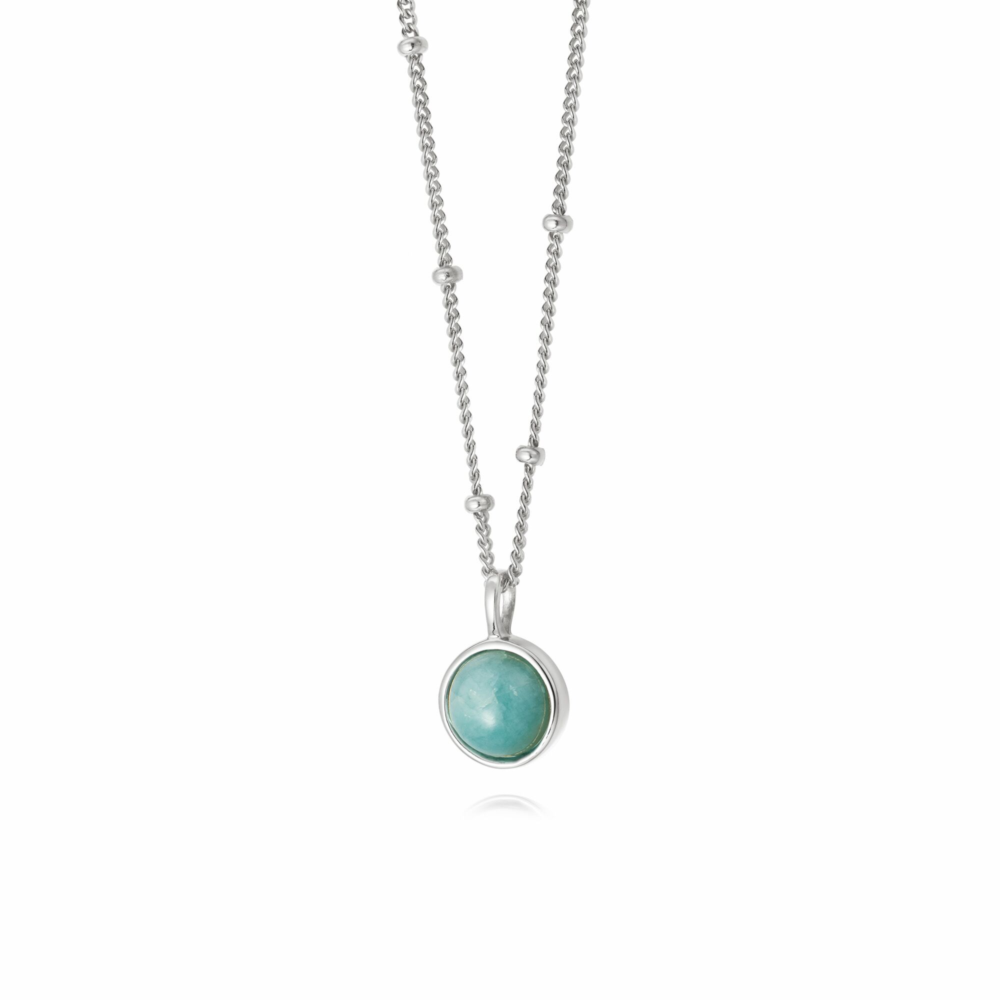 AMAZONITE HEALING NECKLACE SILVER