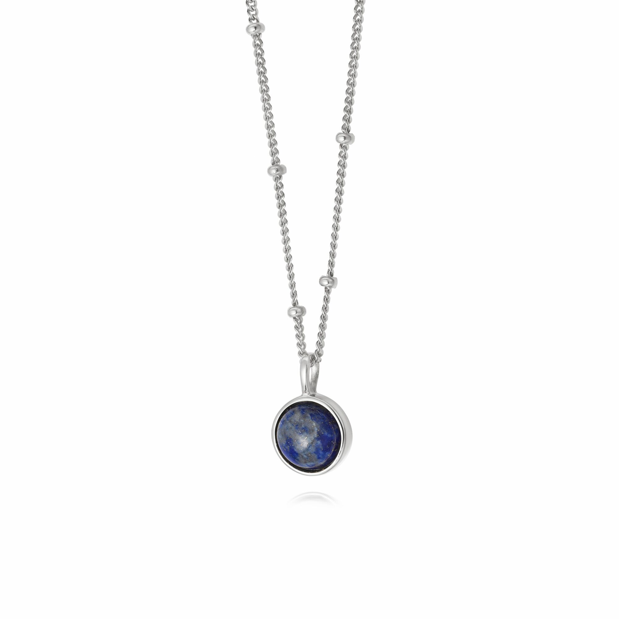 LAPIS HEALING NECKLACE SILVER