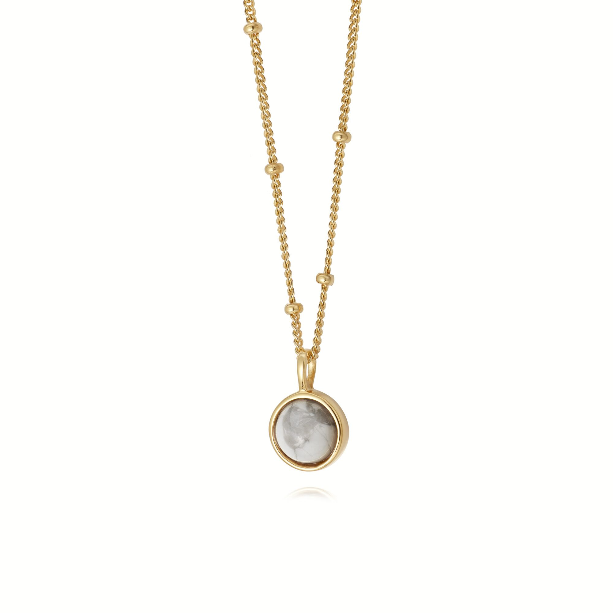 HOWLITE NECKLACE GOLD