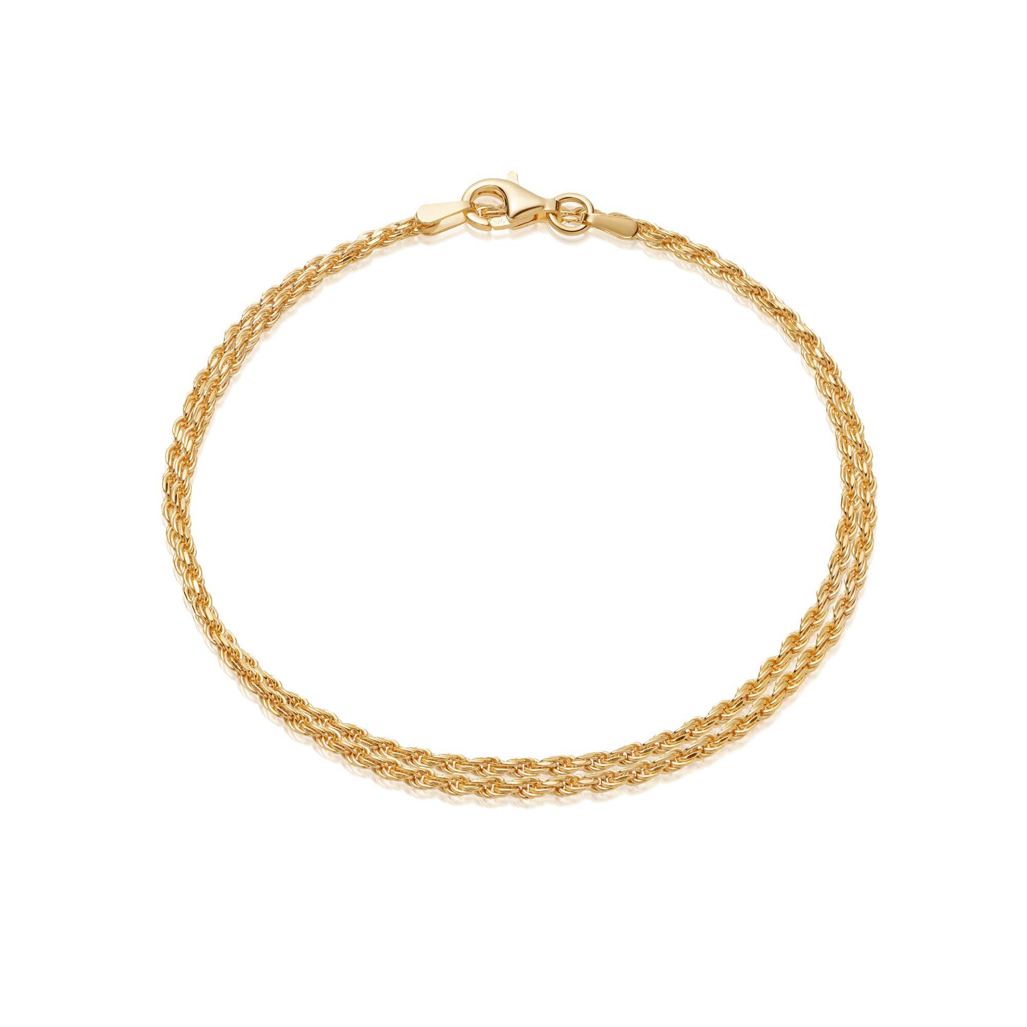 DOUBLE ROPE BRACELET GOLD