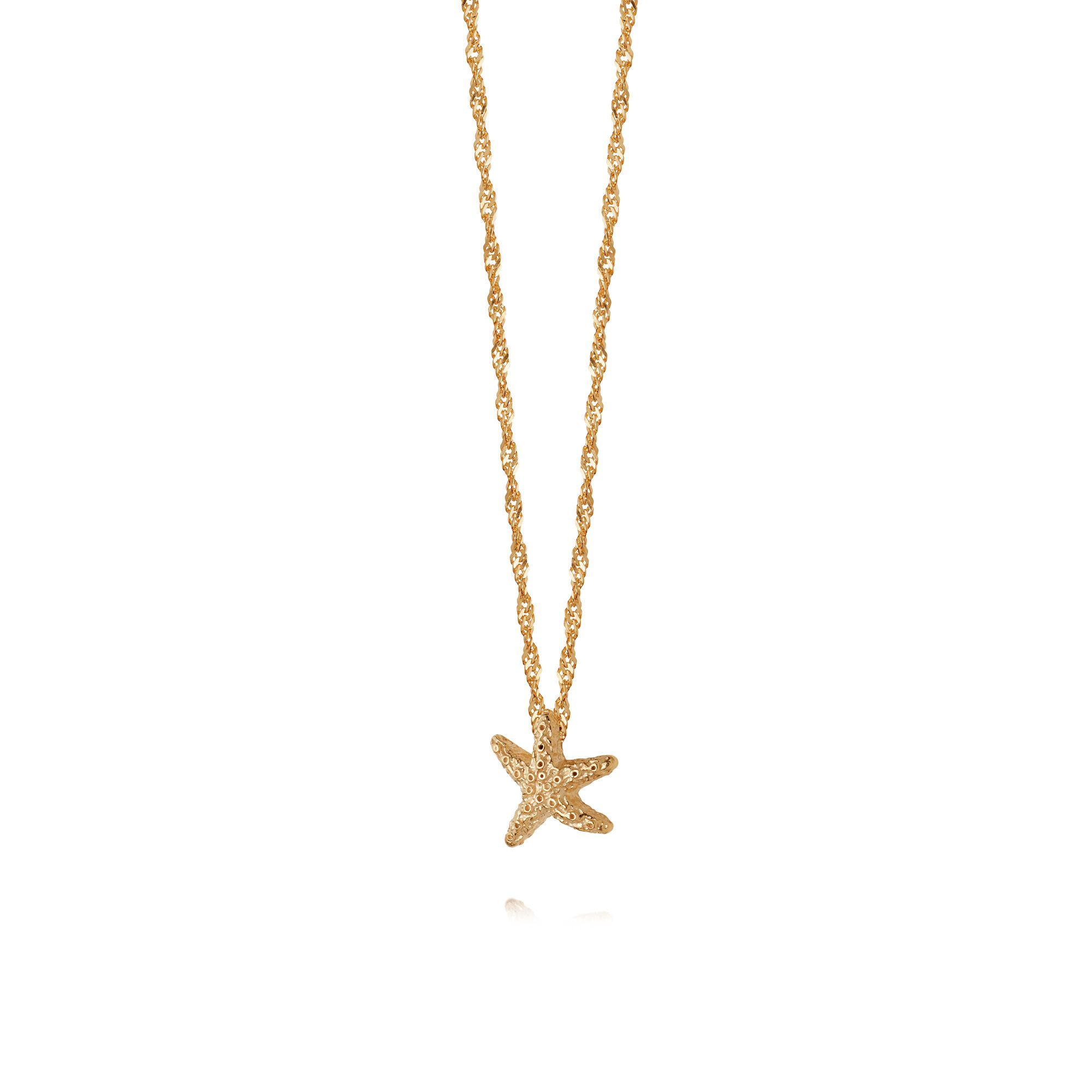 STARFISH CHAIN NECKLACE  GOLD