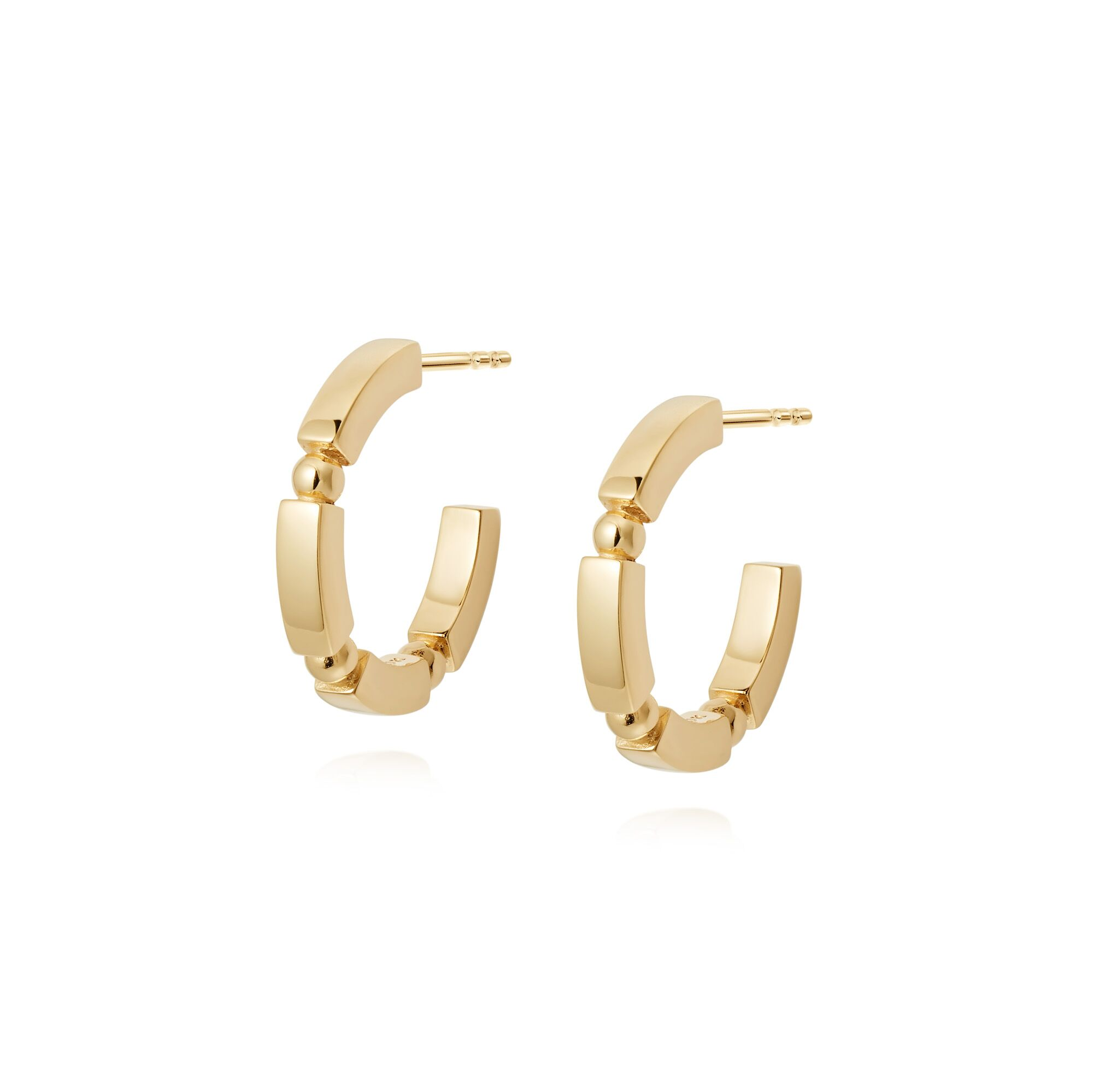 CHUNKY STACKED HOOPS  GOLD