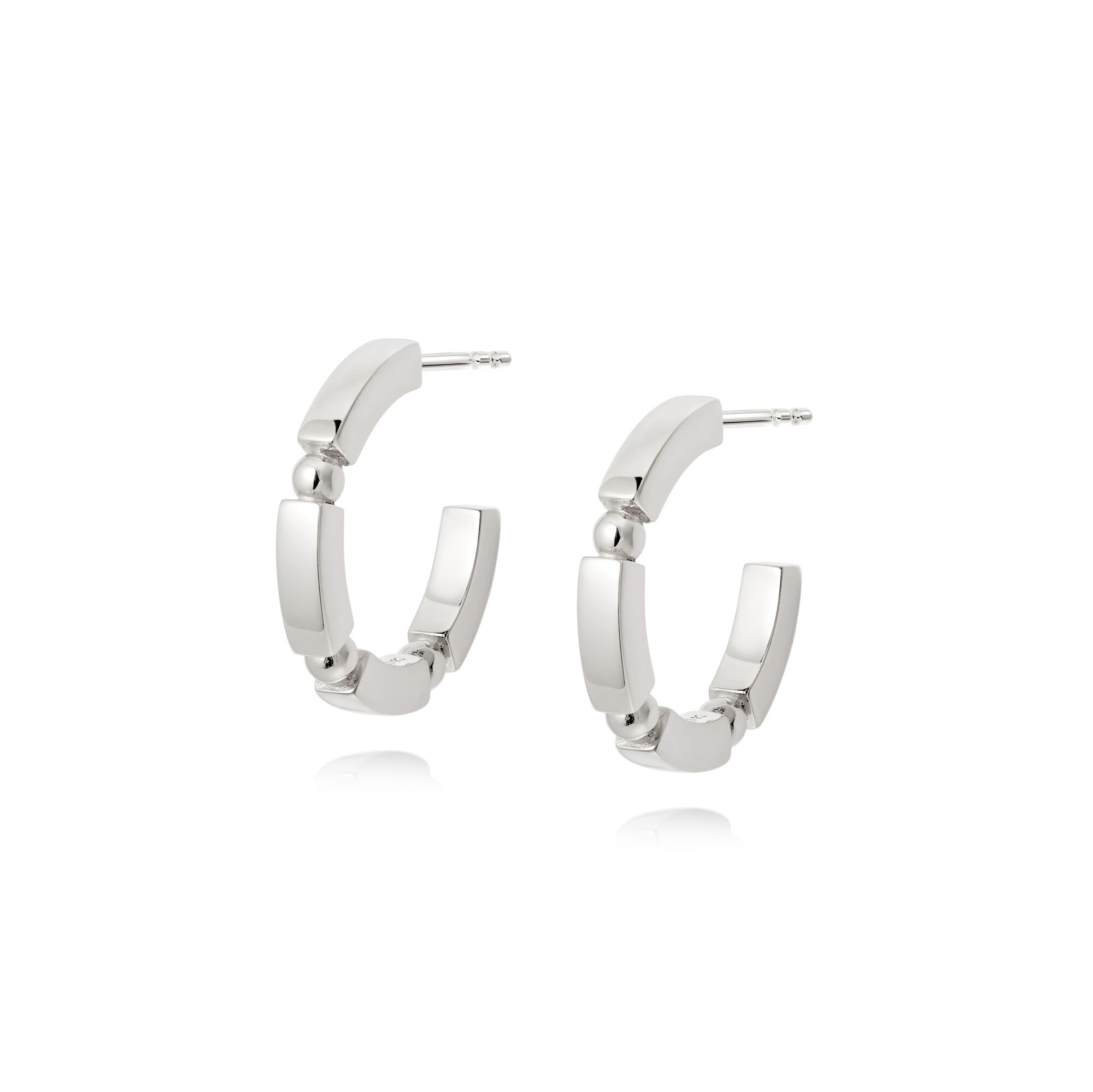 CHUNKY STACKED HOOPS -SLV