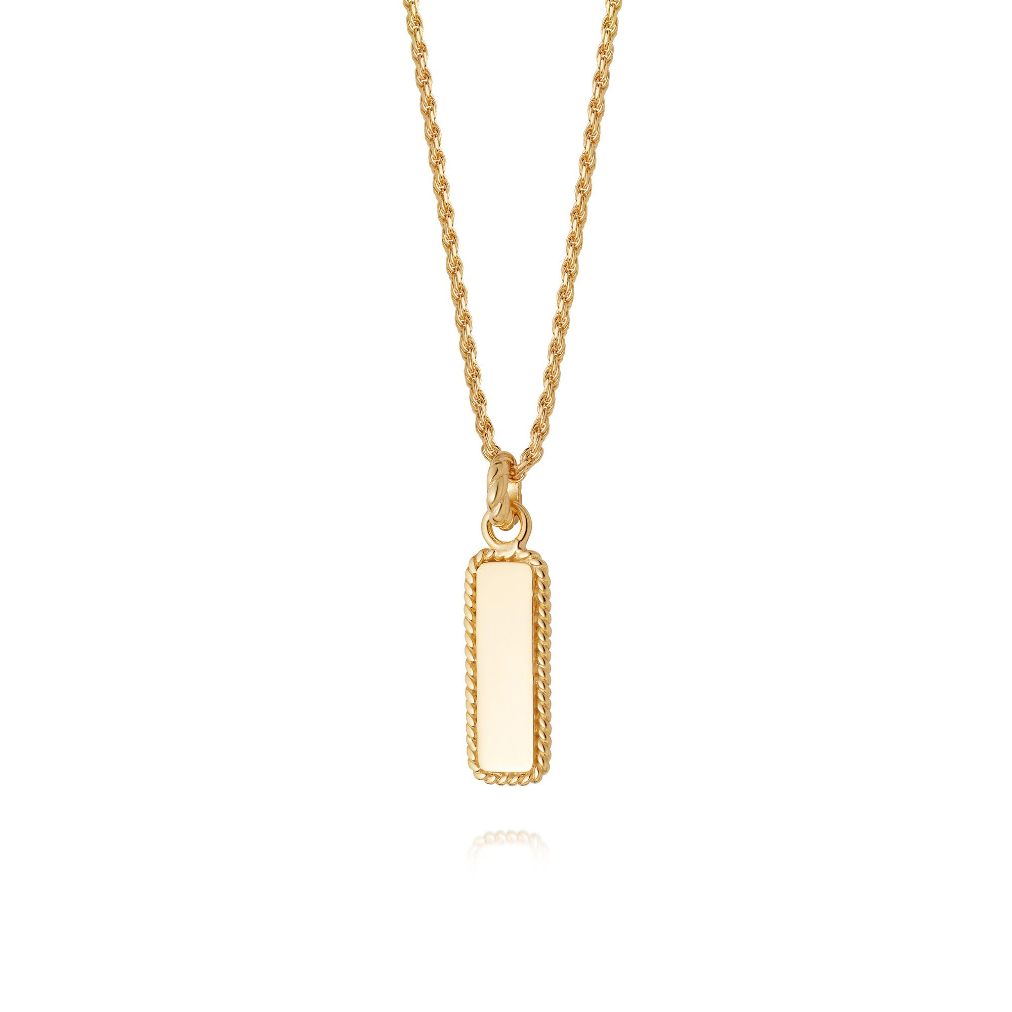 Stacked Rope Pendant Necklace  GOLD