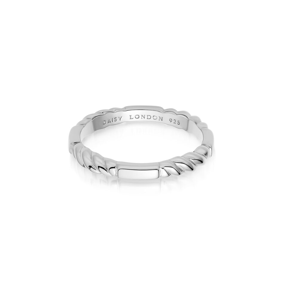 Stacked Rope Ring SILVER