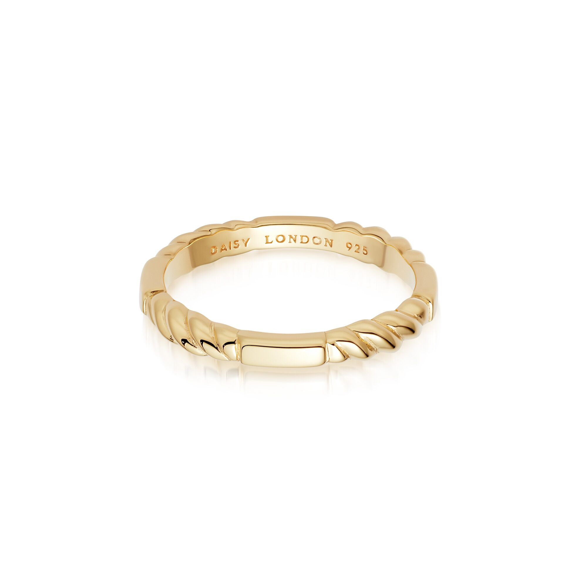 Stacked Rope Ring   GOLD L