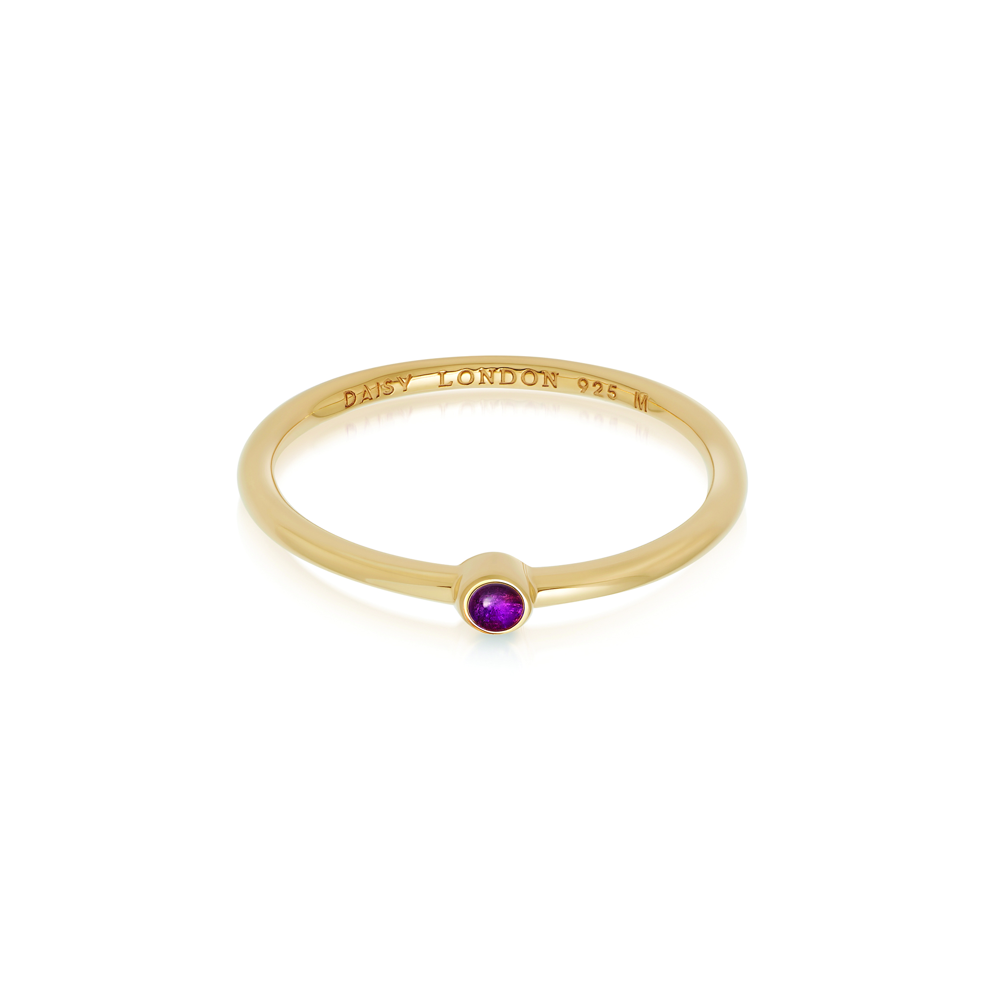 Amethyst Healing Stone Ring 18Ct Gold Plate L