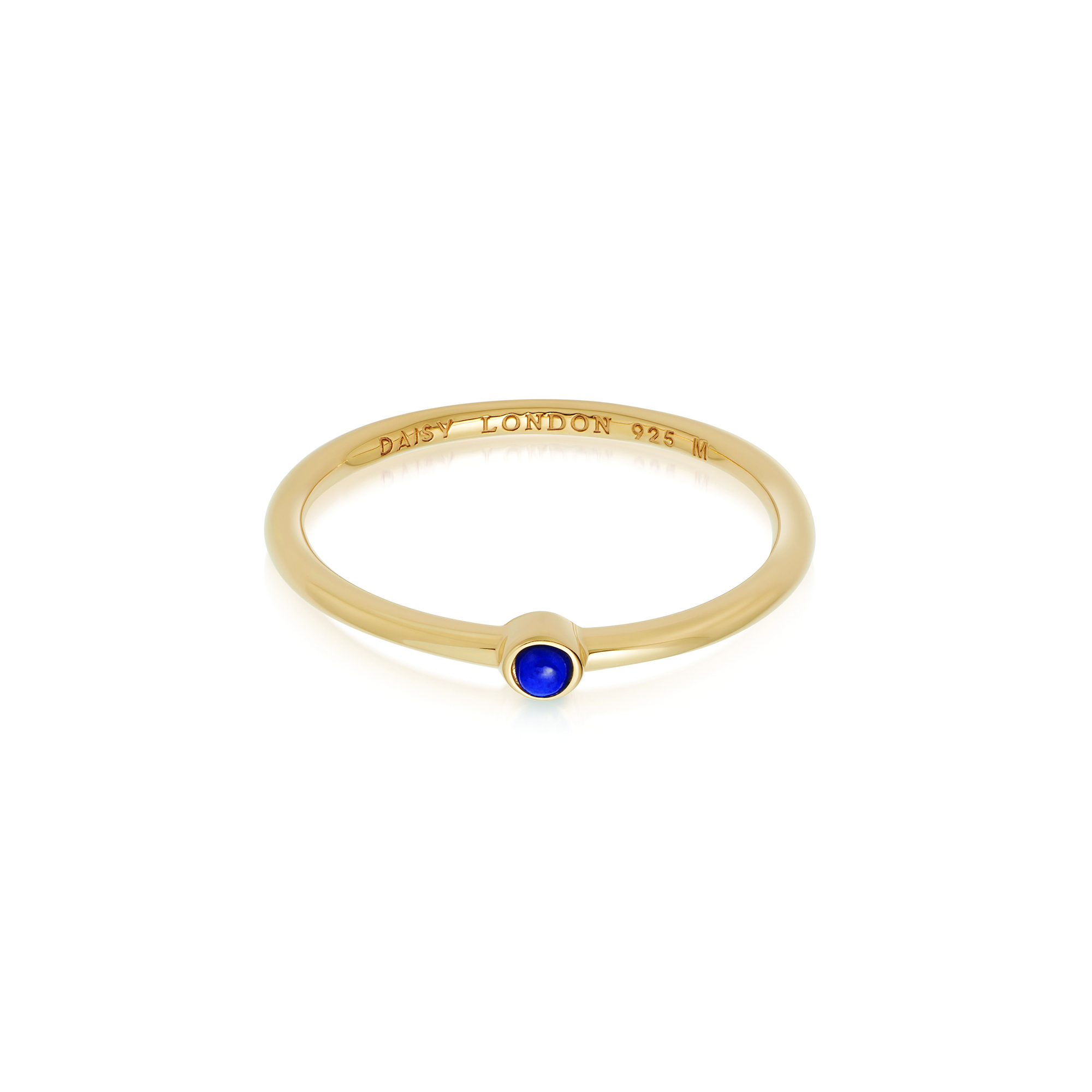Lapis Healing Stone Ring 18Ct Gold Plate L