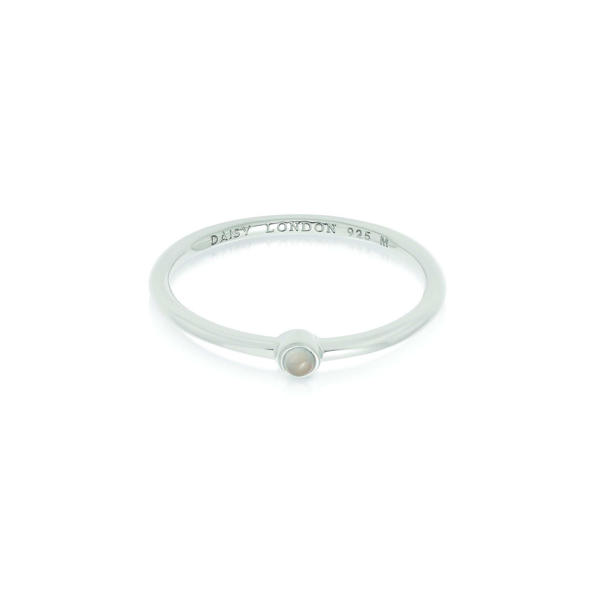 Rose Quartz Healing Stone Ring Sterling Silver M