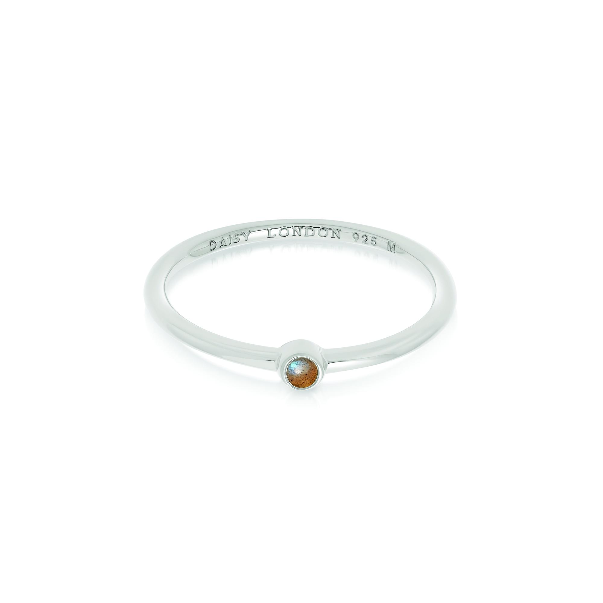 Labradorite Healing Stone Ring Sterling Silver M