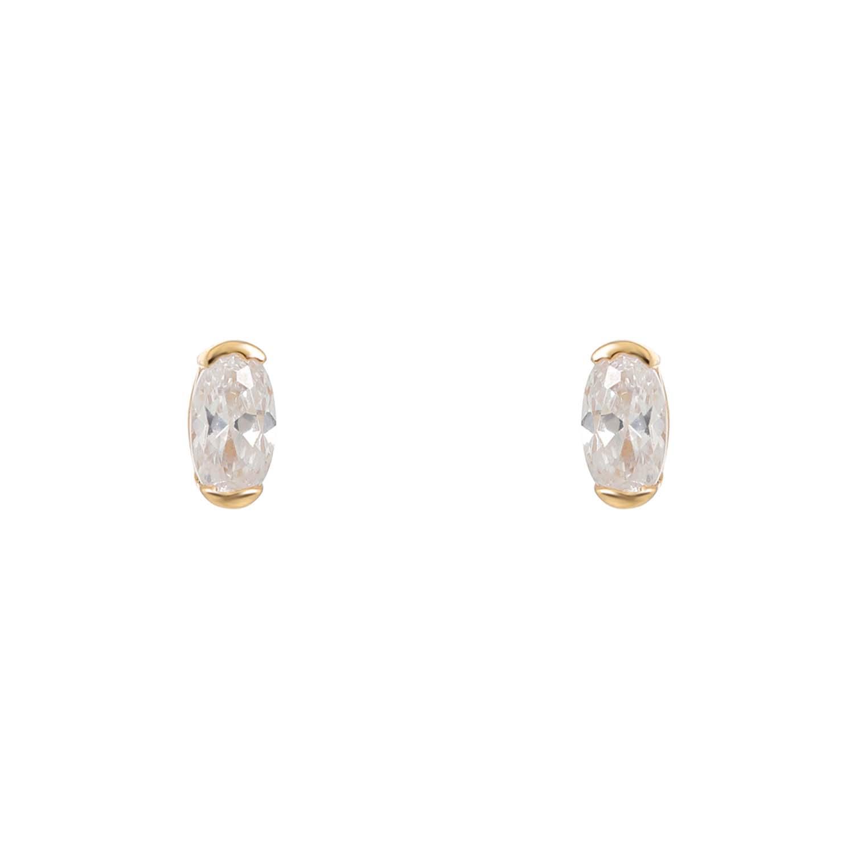 FAYE GOLD STUD EARRINGS