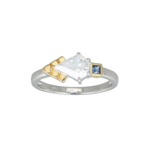 THEA GOLD RING IN BLUE N