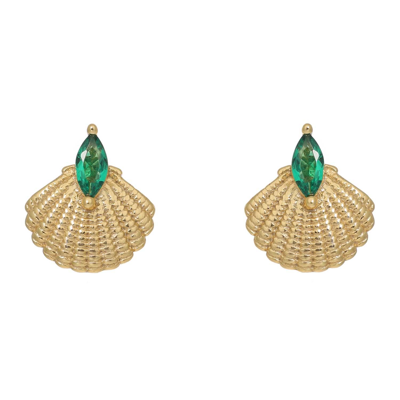 PAMELA GOLD SHELL EARRINGS