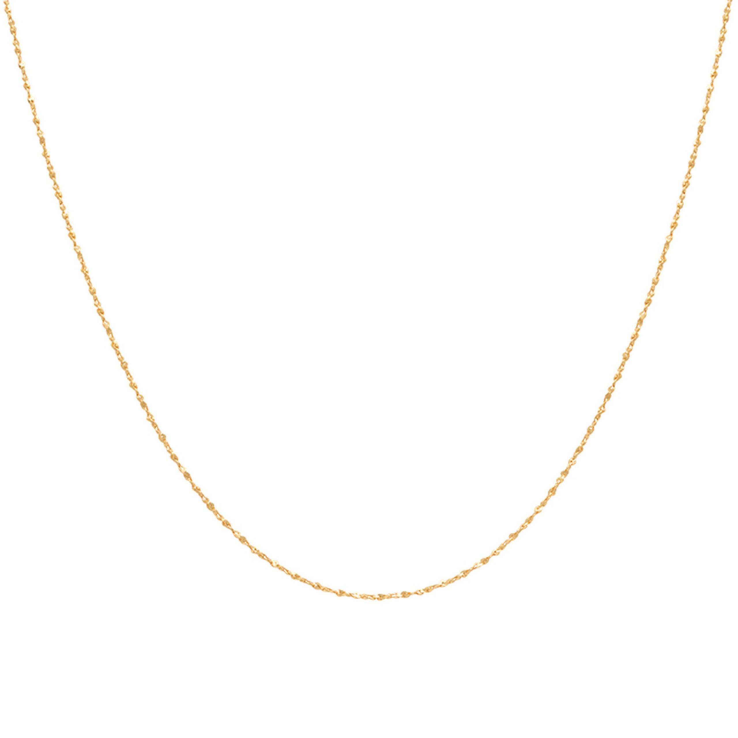 FINE TWIST SHORT CHAIN GOLD