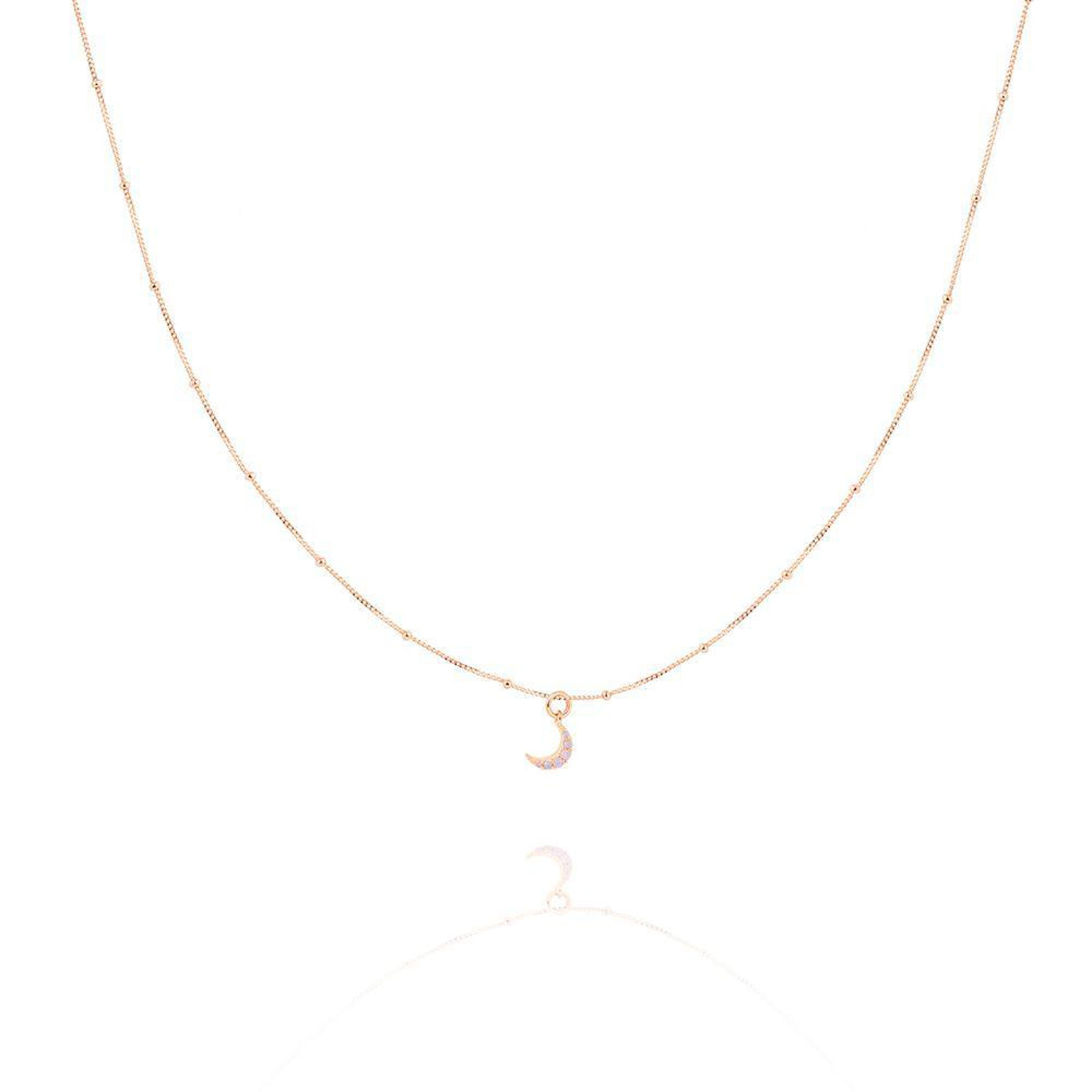 MYSTIC MOON NECKLACE ROSE GOLD