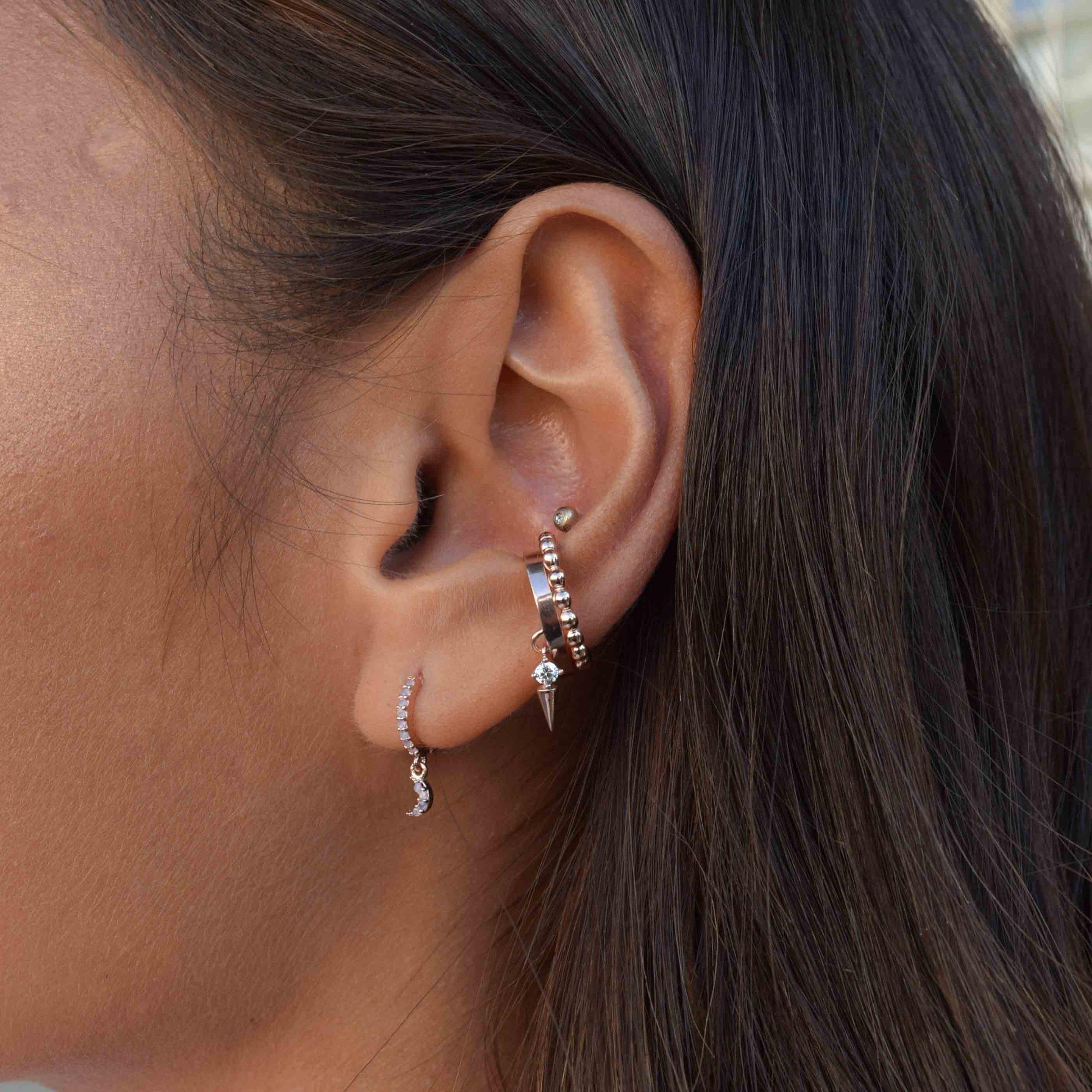 BASIC BEADED EAR CUFF ROSE GOLD