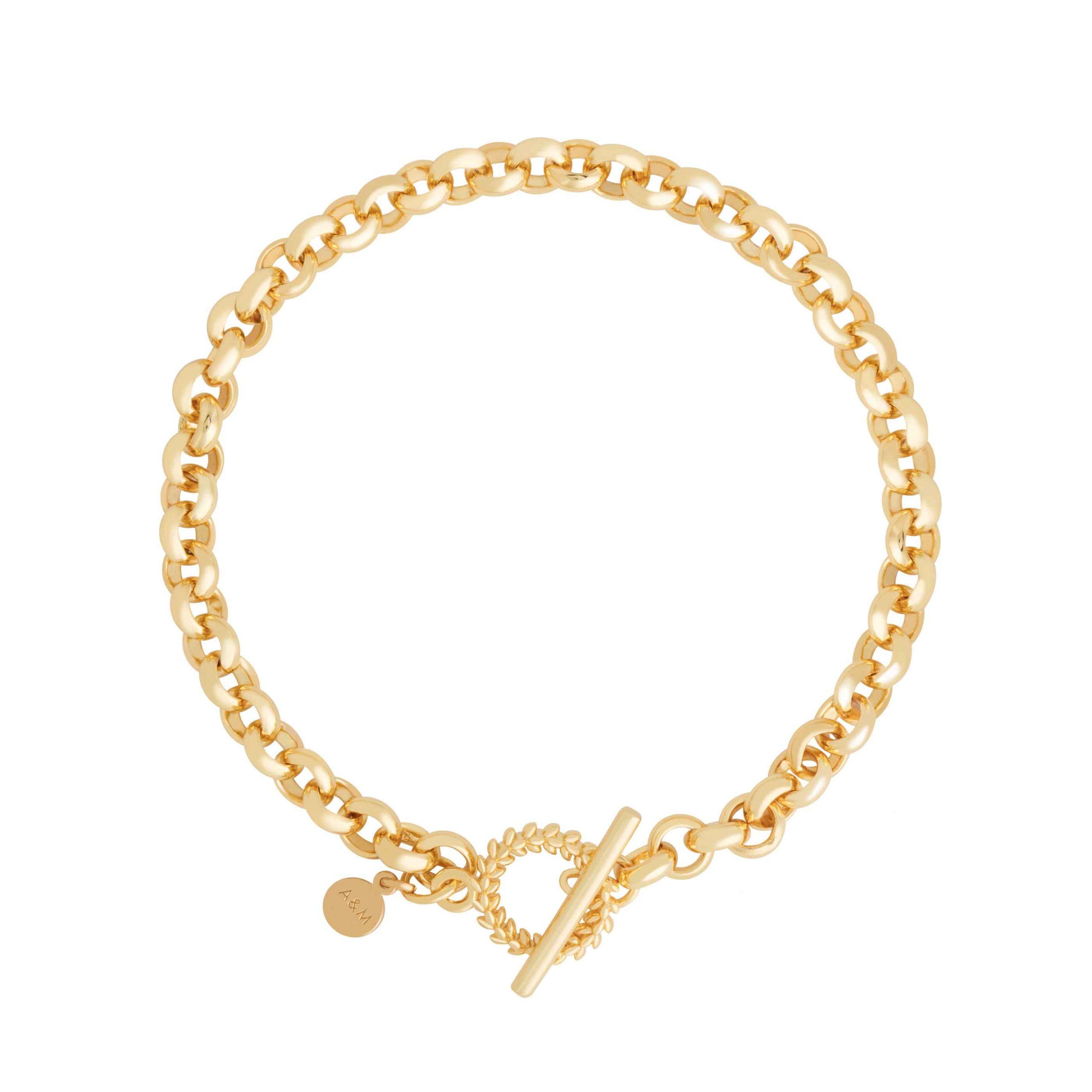 WREATH CHUNKY BRACELET GOLD