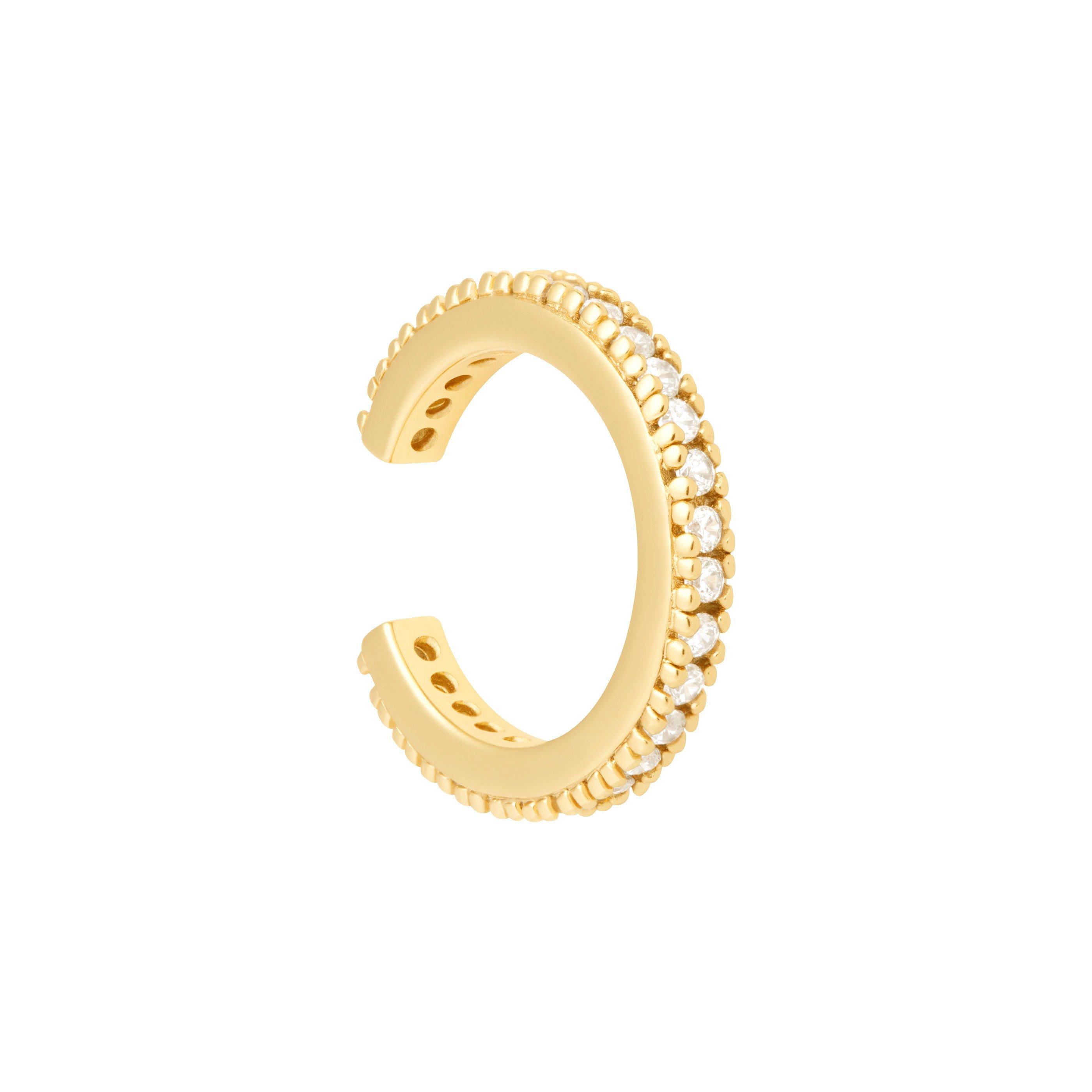CRYSTAL EAR CUFF GOLD