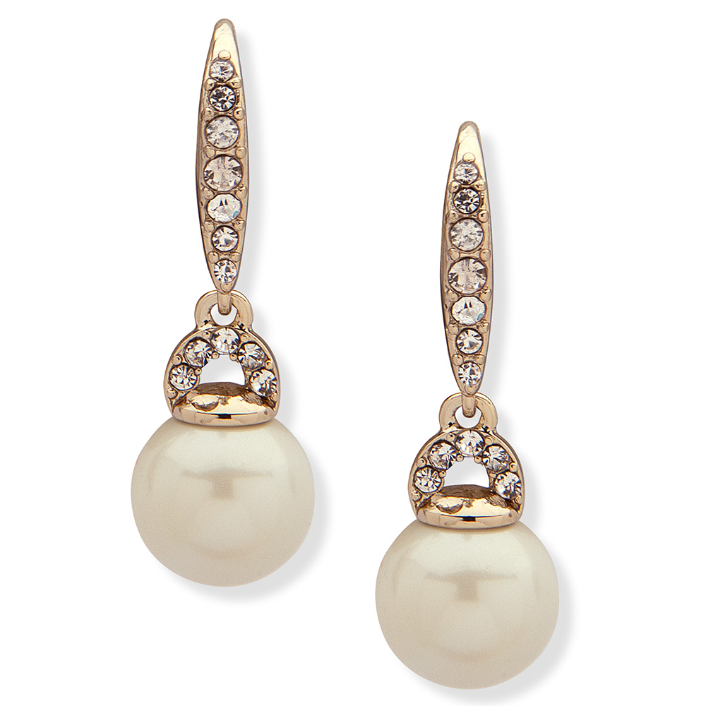 SMALL DROP GOLD/WHITE PEARL EARRING