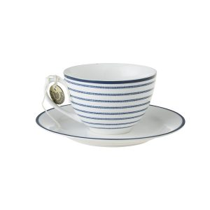 CANDY STRIPE CAPPUCCINO CUP & SAUCER