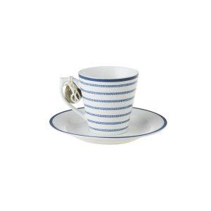 CANDY STRIPE ESPRESSO CUP & SAUCER